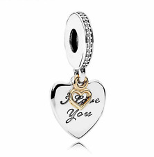 I Love You Forever Pendant Dangle Charm S925 Silver Sterling Valentine Day Gift