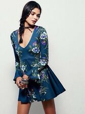 FREE PEOPLE Beautiful Luxe Floral Dress Size XS/ 8, RRP $199