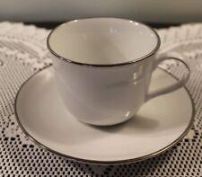 "Royal Doulton 2-3/4"" Cup & Saucer Set Simply Platinum Pattern"