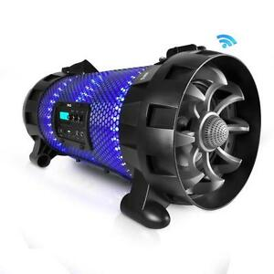 Bluetooth + NFC BoomBox Stereo Speaker System with Multi-Color LED Party Lights