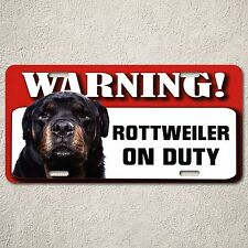 LP0049 Rottweiler On Duty Sign Rust Vintage Auto Car License Plate Home Decor