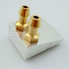 Aluminium Double Inlet water pickup Flush Type Pour RC Bateau de refroidissement 19 x 21 mm