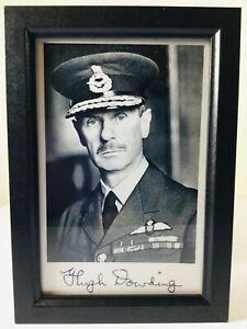 RAF FIGHTER COMMAND HUGH DOWDING BATTLE OF BRITAIN PHOTOGRAPH PRINT & SIGNATURE