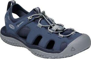 Keen Men's Solr Sandal Shoes, Navy/Steel Grey - 1022431