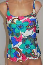 NWT Island Escape Swimsuit Tankini Top Size 14 add a size