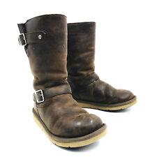 Ugg Australia Kensington Buckle Moto Boots Brown Leather Womens Size 6