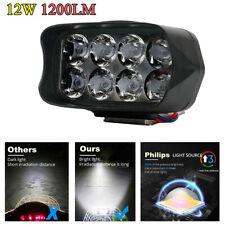 12W 1200LM Motorcycle Headlight Scooter Fog Spotlight LED Spot Light White DRL
