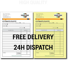 PERSONALISED A5 ESTIMATE / QUOTE BOOK - DUPLICATE / NCR, 50 SETS/PAD