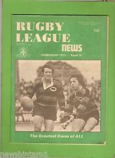 #RR. RUGBY LEAGUE NEWS  -  30/6-1/7/1973, NORTH SYDNEY BEARS  COVER