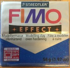 FIMO Polymer Oven Modelling Clay 57g - 302 - Glitter Effect Blue, 53 Green