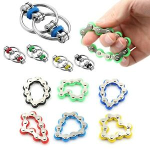 Fidget Toy Bike Chain Ring Stainless Steel Autism Stress Anxiety Relief Sensory