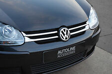 CHROME FRONT GRILLE ACCENTS TRIM SET FULL COVERS FOR VW VOLKSWAGEN GOLF V 04-09