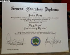 GED DIPLOMA PROFESSIONAL FAKE DOCUMENT VERY REAL LOOKING!