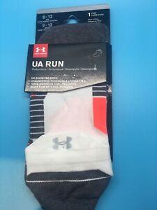 Under Armour Run No Show Tab Socks Performance Running Socks White/Neon Coral