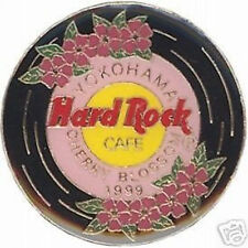 Hard Rock Cafe YOKOHAMA 1999 Cherry Blossom PIN Record Disc #10579  + FREE PIN!