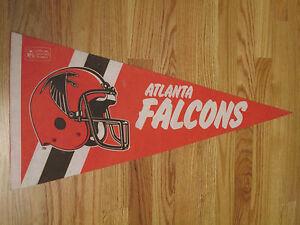 """1980s ATLANTA FALCONS 30"""" Pennant"""