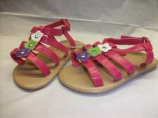 NEW Little Girls Shoes Pink Sandals Size 5 Kids Flowers Summer Cute