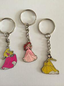 DISNEY PRINCESS KEY RING, BAG CHARM Ariel, Cinderella, Belle, Snow White