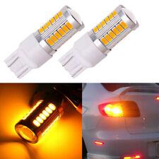 2Pcs Amber T20 7443 33SMD LED Light Bulbs Backup Reverse Brake Tail Lights Lamps