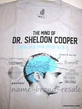BIG BANG THEORY SHELDON COOPER T-Shirt Unisex Size 2X 2XL XXL Gray BRAND NEW