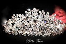 High end Swarovski crystal wedding tiara bridal or quinceaniera crown wholesale