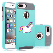 For Apple iPhone SE 5s 6 6s 7 Plus Shockproof Hard Case Cover Rainbow Unicorn