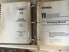 1979 Aston Martin Shop Manual V8 Saloon & Parts Catologue Saloon,Volante,Vantage
