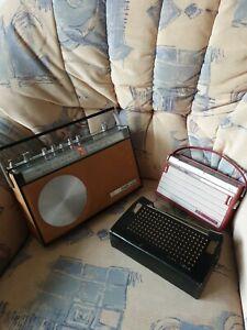 2 Transistorradios Grundig Prima Boy Rot 60er Jahre Saba Sandy Ocker 70er defekt