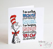 DR SEUSS - THE CAT IN THE HAT - BROTHER Birthday Card