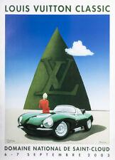 Original Louis Vuitton Classic Poster - Razzia - Domaine St Cloud - Jaguar 2003