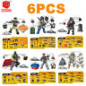 6X Mini Military  PUBG Survival Battle Field Building Bricks Figures Weapon Gun
