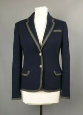 Ted Baker jacket Mider cotton Blend navy SIZE 2 UK 10