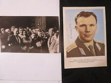 Autograph of Yuri Gagarin. Cosmonaut of the USSR.