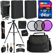 64GB Memory + 2 EN-EL14 Batteries + Accessories KIt f/ Nikon D5500, D5300, D5200