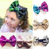 Hair Accessories Sequin Ponytail Girl Hair Clips Barrette Big Bow Children
