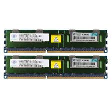 2x Nanya 8GB PC3-10600R DDR3 1333Mhz Arbeitsspeicher REG DIMM ECC SERVER RAM 10H
