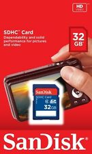 SANDISK 32GB SD SDHC MEMORY CARD CLASS 4 HIGH SPEED FOR CAMERA CAMCORDER