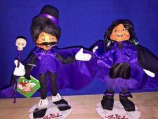 """Rare & New SET of 2 Adams Family ELF Gomez Morticia ANNALEE Dolls 10"""" ▬ 2010 ❤️"""