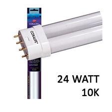 CORALIFE 24 WATT 10K STRAIGHT PIN PC LAMP 13 INCH BIOCUBE BULB - WHITE COLOR