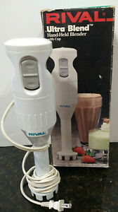 Rival Ultra Blend Electric Hand Held Immersion Blender Mixer Model 951 White