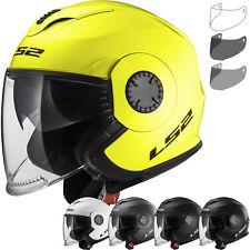 LS2 Helmet Motorbike Open Of570 Verso Solid White XXL