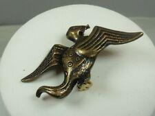 Style 6 Pin / Brooch Vintage Antiqued Gold Tone Dinosaur