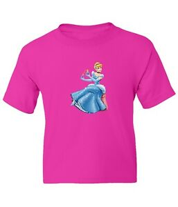Princess Cinderella Kid Girl Boy Youth Unisex Crew Neck Short Top T-Shirt