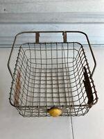 Antique Firestone Bicycle Basket Handlebar Mount Vintage bike airstream
