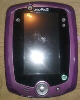 LeapFrog Purple LeapPad 2 System Tablet Tested with Stylus and Sparkle Gel Skin