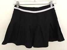 Charlotte Russe Womens Pleated Mini Skirt Size S Black Tennis Athletic lr3352