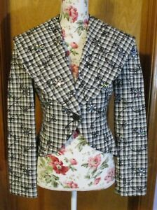 Black and white Office Blazer, Size S