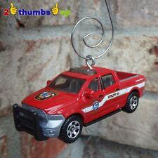 RED Fire Truck Utility Emergency Dodge RAM 1500 1:64 3