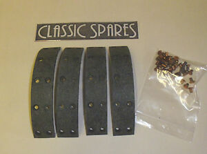 LOTUS SUPER SEVEN 1962 - 1965 REAR BRAKE LININGS WITH RIVETS RC777