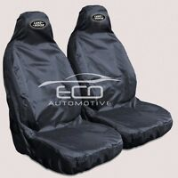 For Land Rover Discovery 3 & 4 Heavy Duty Black Waterproof Car Seat Covers -x 2